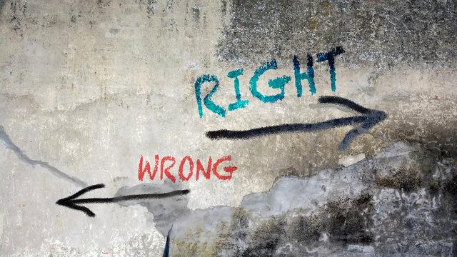 Street Graffiti Right versus Wrong