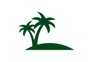 abstract palm tree logo green concept icon