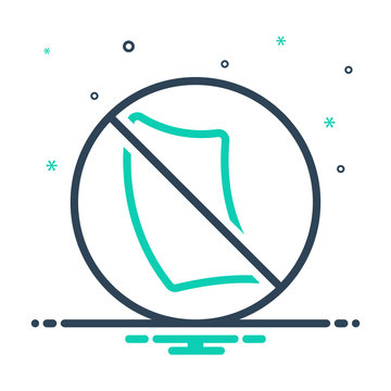 Mix line icon for paperless