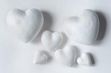 hearts of styrofoam