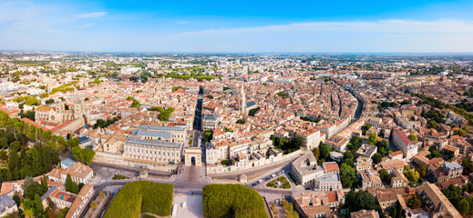Montpellier aerial panoramic view, France Fotomurales