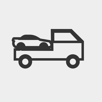 Tow car vector icon