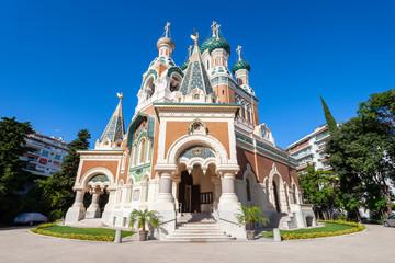 Foto op Canvas Nice St Nicholas Orthodox Cathedral, Nice