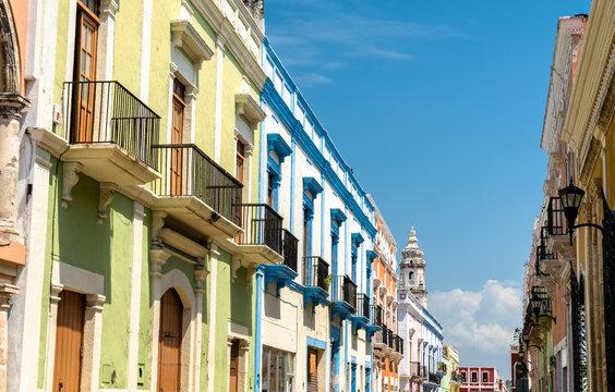 Colonial architecture in Campeche, Mexico