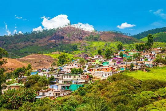 Munnar town in Kerala, India