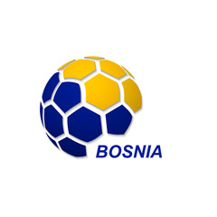 abstract soccer ball with national flag colors