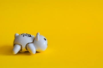 Toy isolated on a yellow background.