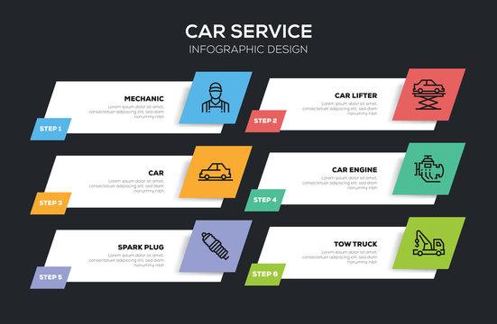 CAR SERVICE INFOGRAPHIC DESIGN