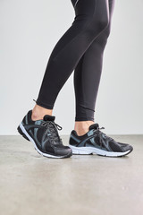 Athletic fashion leggings and sports shoes