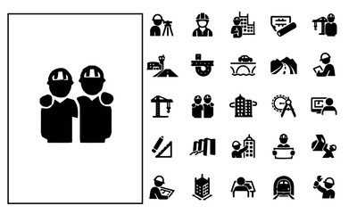 Civil Engineering Icons vector design