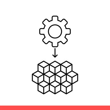 Microservice vector icon, micro chip symbol. Simple, flat design on white background