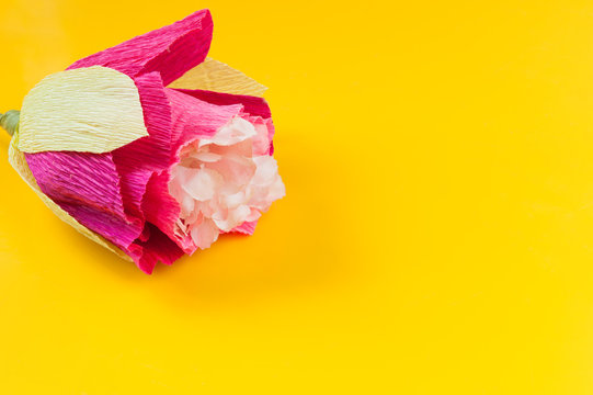 corrugated paper flower