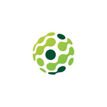 dot sphere tech connection logo vector icon