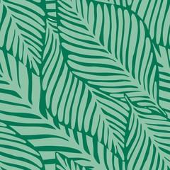 Foto op Canvas Tropische Bladeren Summer nature jungle print. Exotic plant. Tropical pattern,