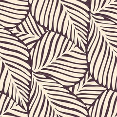 Abstract leaf seamless pattern. Exotic plant. Tropical pattern, palm leaves