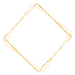 Golden crystal frame