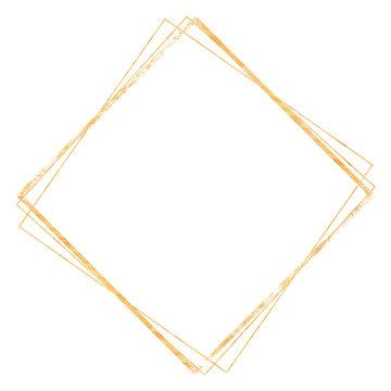 Golden crystal frame