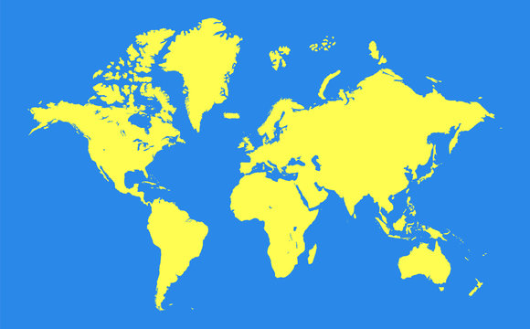 World map background. Blank worldmap template for infographics, reports, designs.