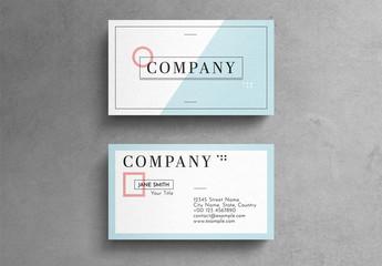 Minimalist Geometric Pastel Business Card Layout