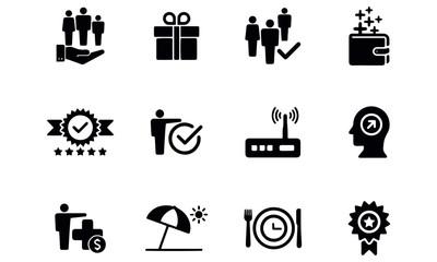 Employee Benefits Icon Set design vector