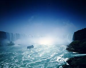 Ferry approaching Niagara Falls