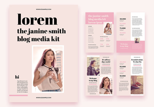 Pink Business Blog Media Kit Layout