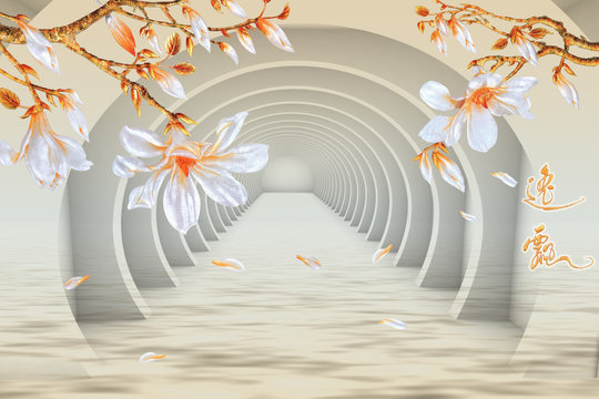 background with floral design