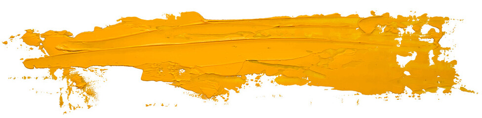 Yellow oil texture paint stain brush stroke isolated on white background EPS10 vector illustration. Wall mural