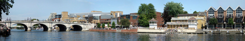 UK, England, Surrey, Kingston upon Thames, river panorama Fototapete