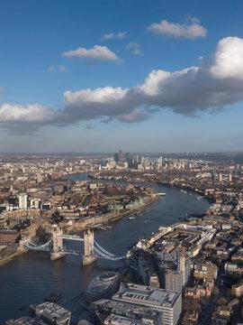 Europe, UK, England, London, Tower Bridge aerial