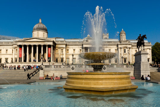 UK, England, London, Trafalgar square, National Gallery
