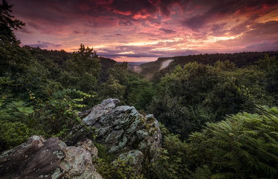 Petit Jean State Park Arkansas. Overlook scenic view from Petit Jean sate park near Morrilton Arkansas.