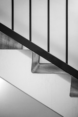 Symmetric closeup shot of staircase from the side