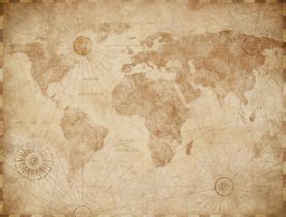 Wall Mural - Vintage old world map illustration