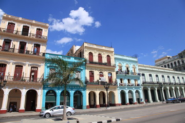 Foto op Canvas Havana colourful buildings in Havana cuba