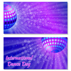 International Dance Day. Flyers for event participants.