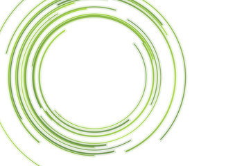 Wall Mural - Abstract green HUD circles futuristic tech background
