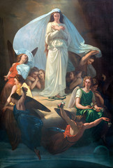 Wall Mural - CATANIA, ITALY - APRIL 7, 2018: The painting of Immaculate Conception in church Chiesa di San Placido by Michele Rapisardi (1857).
