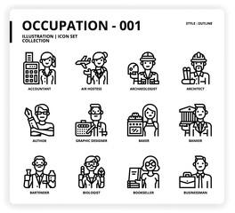 Occupation icon set
