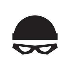 Thief with cap icon. Isolated Vector Illustration