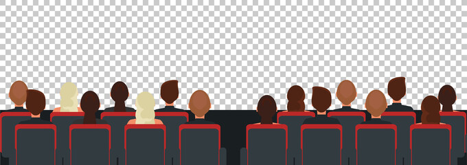 Cinema, theater audience flat illustration Fototapete
