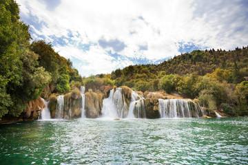 Krka, Sibenik, Croatia - Swimming within the cascades of Krka National Park