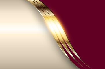 Business elegant background, golden red metallic.