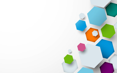 Wall Mural - Abstract colorful hexagogns background. can be used for wallpaper, template, poster, backdrop, book cover, brochure, leaflet, flyer
