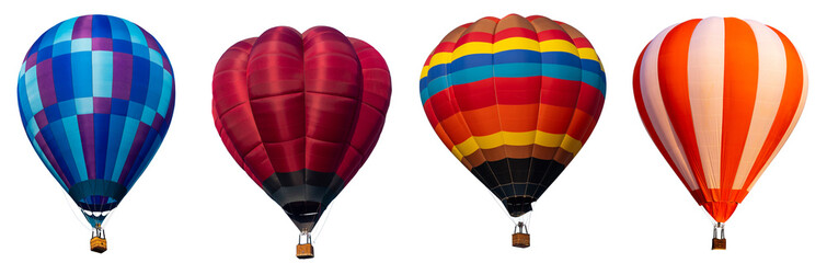 Deurstickers Ballon Isolated photo of hot air balloon isolated on white background.