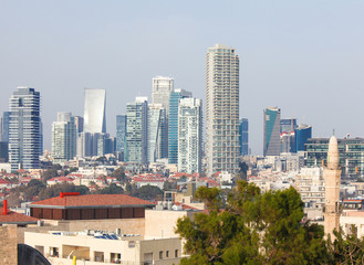 Skyline of Tel Aviv, Israel