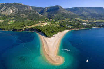 Zlatni Rat beach in Bol Croatia