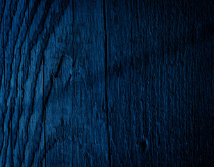 Texture Navy blue of old rough wood. Abstract background for design. Vintage retro