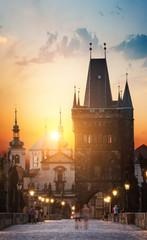Foto op Aluminium Praag Prague at dawn