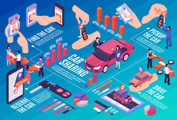 Car Sharing Infographic Flowchart